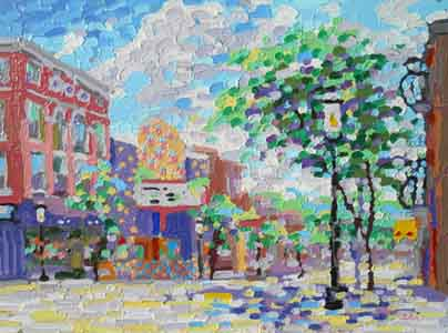 Clifton Gaslight painting  by Tom Liohre.