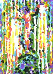 Fountain Square Abstract Painting by Tom Lohre