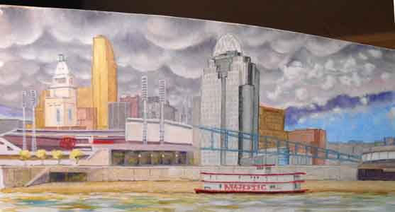Great American Ball  Park painting by Tom Lohre.