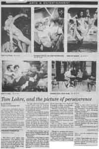Story about Tom Lohre in Ed Hick's Nouveau Midwest a gay tabloid in Cincinnati, Ohio.