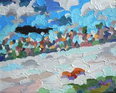 Perfect North Slopes II Lawrenceburg Indiana Cincinnati Ohio Impressionism Oil Painting by Local Artist Tom Lohre