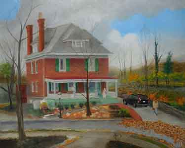Evanswood home painting in the traditional method second pass by Tom Lohre.