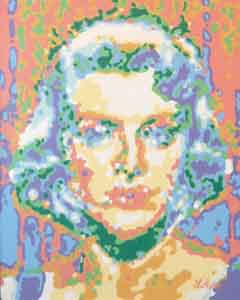 Painting of Rosemary Clooney by Tom Lohre
