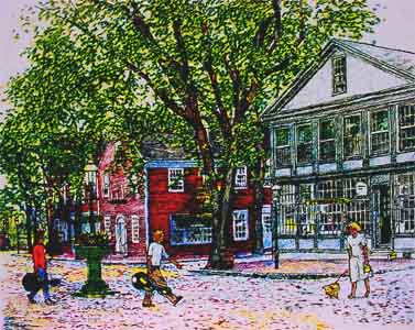 Silk scree print of Zero Main Street by Tom Lohre.