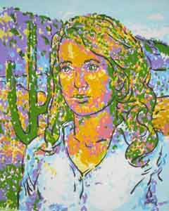 Gabriella Giffords oil portrait by Tom Lohre
