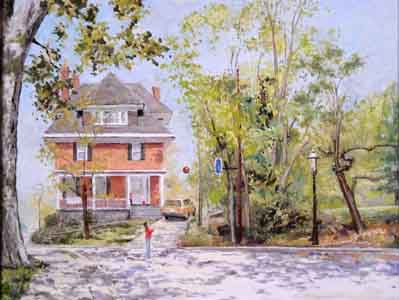 Evanswood Home oil on canvas by Tom Lohre.
